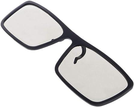Gafas 3D Gafas 3D Tipo Clip-On Circular Gafas 3D Polarizadas Pasivas para TV Real 3D Cinema 0.22Mm, Negro: Amazon.es: Electrónica