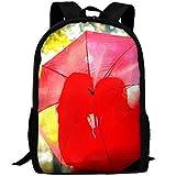 ZQBAAD Red Umbrella Love Luxury Print Men And Women's Travel Knapsack