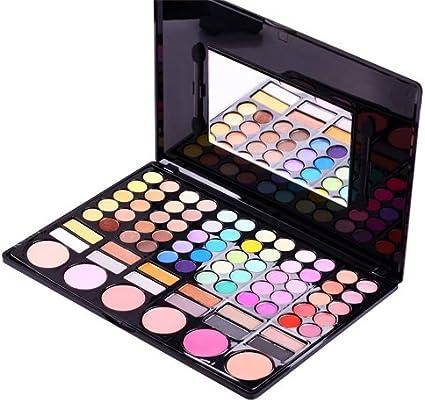 Accessotech – 78 color paleta de sombra de ojos sombra de ojos maquillaje Kit Set Maquillaje Caja con espejo: Amazon.es: Belleza