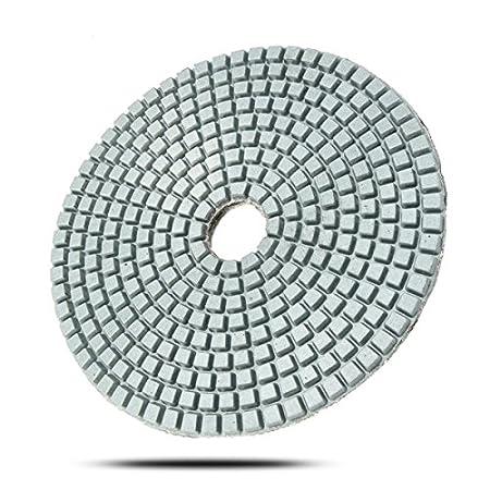 KUNSE 5 Inch 50-6000 Grit Diamond Polier Polster Nasse Trockene Schleifscheibe F/ür Marmor Beton Granit Glas-50#