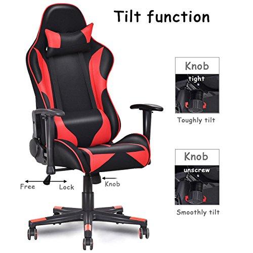 Giantex Gaming Chair Ergonomic Racing Style Reclining
