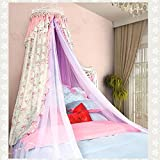 Lustar Mosquito Net Double Bed Canopy Polyester Home Fly Insect Protection 1.5m to 1.8m Bed Indoor Decoration 4-Color to Choose,Yellow