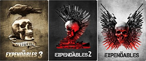 - Expendables Steelbook Set 1/2/3 Exclusive Blu Ray Limited Edition Metal Pack Three Movie set
