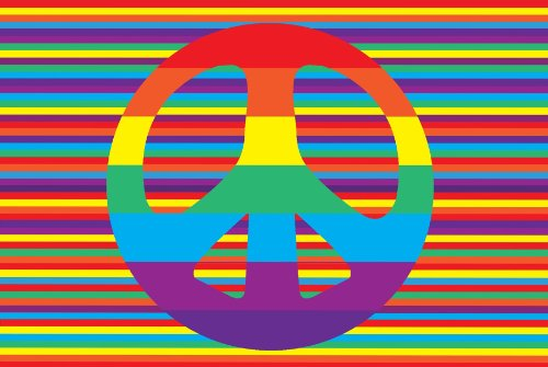 Peace Sign Area Rug Over 6 Colorful Designs To Choose