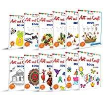 [LD] Art & Craft Activity Books Collections For kids Set of 12 by InIkao; Pack of 12 Books in a bundle