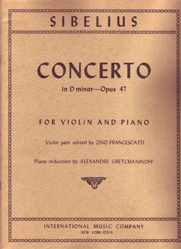 Concerto in D Minor, Opus 47 [Violin/Piano format]