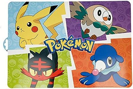 Générique - Juego de 4 Set de Mesa Pokemon Pikachu – Salvamanteles Escritorio Niño Cumpleaños – 197: Amazon.es: Hogar
