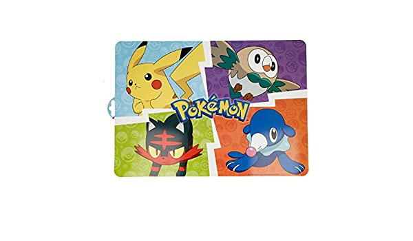 Générique - - Juego de 6 Set de Mesa Pokemon Pikachu ...