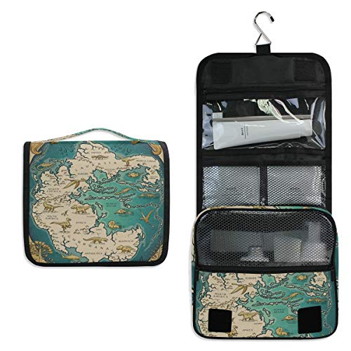 Pangaea Holder - Map Of The Supercontinent Pangaea Makeup Bag,3D Printing women cosmetic bag Multifuncition Pencil Holder