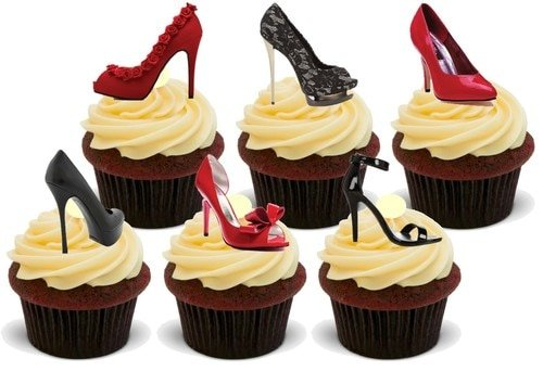 FOR LADIES THAT LOVE SHOES! Edible Standup Premium Wafer Cake Toppers