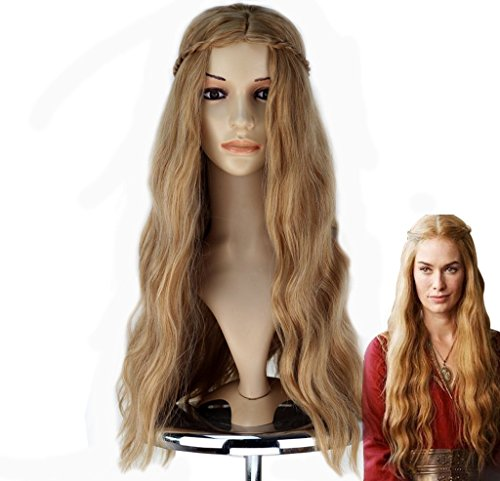 Game Of Thrones Cersei Costume (Game of Thrones Cersei Lannister Wig Cosplay Wig Golden Hair)
