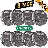 8 Pack AmVolt CR2032 Battery