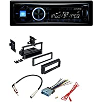 Car Radio Stereo Dash Kit Harness Antenna for GM GMC Chevy Cadillac Pontiac With Alpine CD MP3 Car Stereo Front USB & AUX Inputs Bluetooth Built-In CDE-143BT