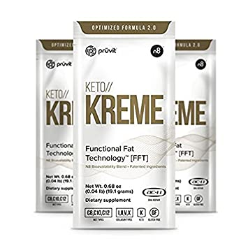 KETO Kreme Ketone Healthy Coffee Creamer, Burns Fat and Promote Weight Loss, Provides Mental Energy Boost, Suppress Food Cravings,7 Sachets