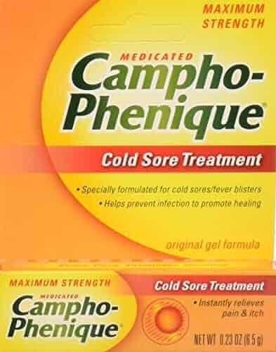 Campho-Phenique Cold Sore Treatment, Maximum Strength, Original Gel Formula, 0.23 Fl Oz