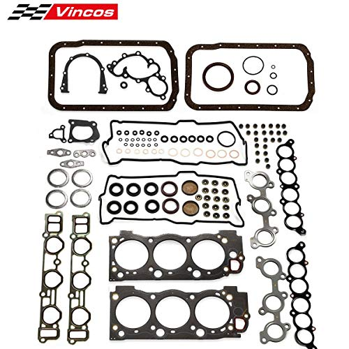 Vincos Full Gasket Kit Replacement For 1995-2004 Toyota 3.4l 4Runner Tacoma Tundra Engine 5VZFE