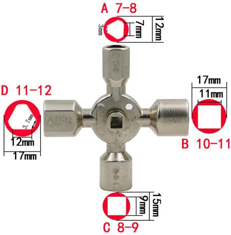 10 in 1 Universal-Schl/üssel Nut Universal-Steckschl/üssel-Multi Funktionshandwerkzeug-Reparatur-Werkzeuge F/ür Wasser Gas Kabinett Und Power Meter Shutdown-System