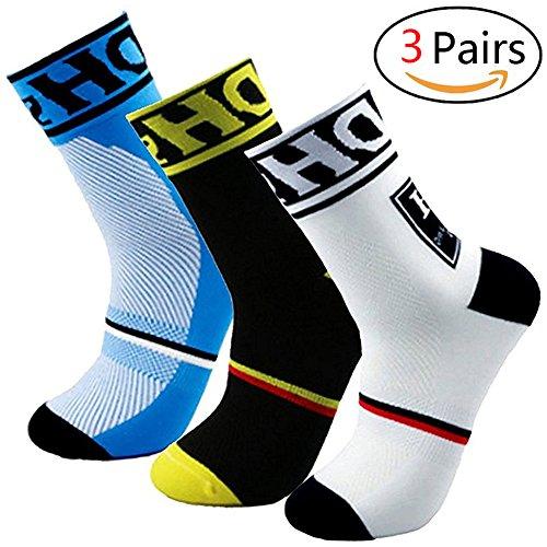 Yijiujiuer Men's Cycling Socks Sports Running Socks for Size 6-11