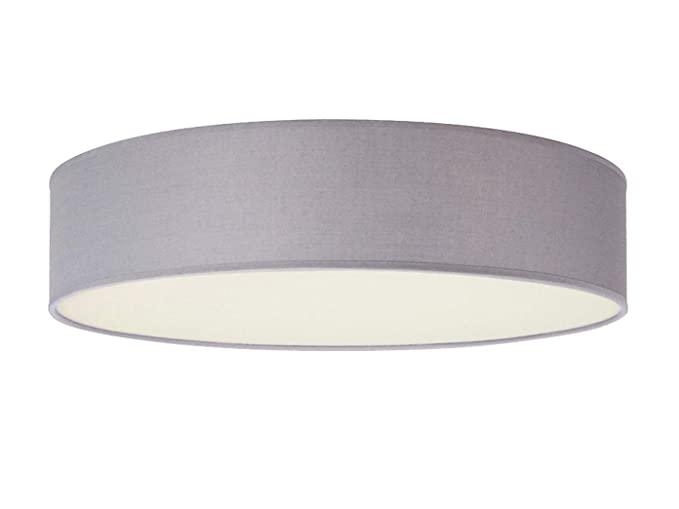 Lámpara de techo redonda atemporal con luz LED - Pantalla de ...