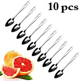 Grapefruit Spoons,Justdolife Fruit Spoon Creative Serrated Dessert Spoon Flatware Spoon for Baby