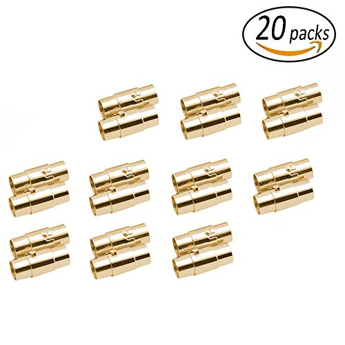 REVEW 20sets Leather Cord End Cap/Magnetic Clasp with Loc...