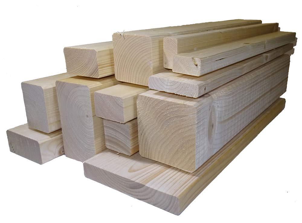 Ein Rahmenholz gehobelt unbehandelt Fichte Breite/Höhe/Länge 27mm x 144mm x 2000mm 6, 49€/Lfm Latten Kantholz Zaun Garten Holz Brett Balken Leiste Hochbeet TUGA - Holztech