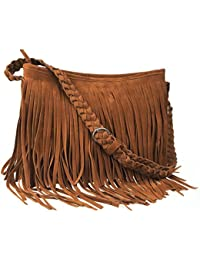 Hippie Suede Fringe Tassel Messenger Bag Women Hobo Shoulder Bags Crossbody  Handbag 4Colors 1d4a5a75be