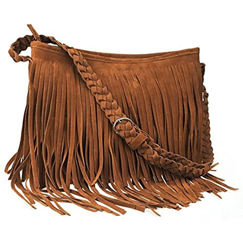 Simply Be Suede Fringe Across Body Bag