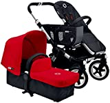 Bugaboo Donkey Complete Mono Stroller - Red - Aluminum