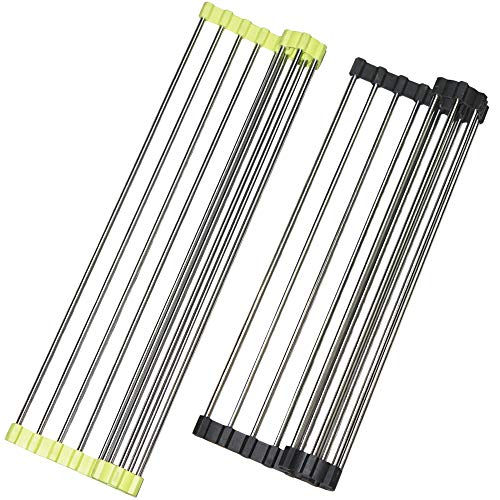 Over the Sink Multipurpose Roll-Up Dish Drying Rack, SourceT