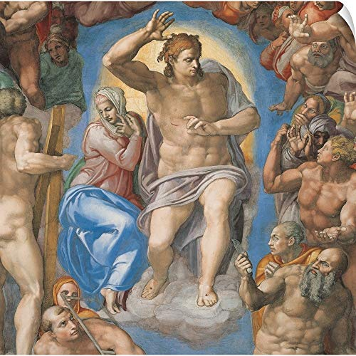 CANVAS ON DEMAND Michelangelo Buonarroti Wall Peel Wall Art Print Entitled Sistine Chapel (Cappella Sistina), by Michelangelo Buonarroti, 16th Century ()