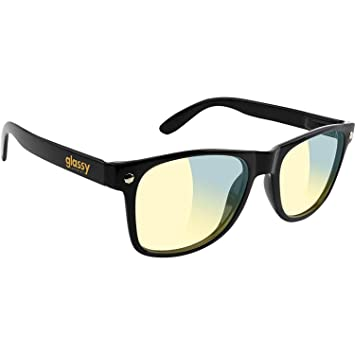 0990fbc73c Glassy Sunhaters Leonard Gamers Black Clear Sunglasses  Amazon.co.uk   Sports   Outdoors