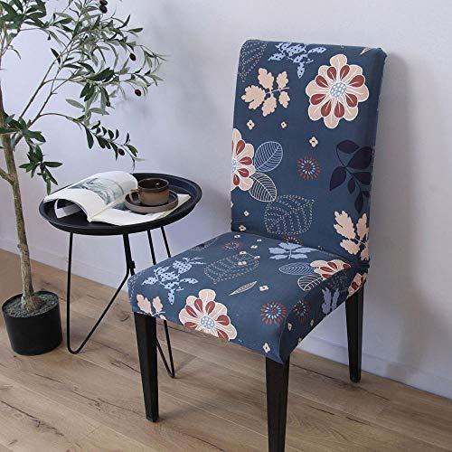 Cxypeng Fundas para sillas extraibles Lavables, Funda para Silla elastica General siamesa, cojin para Silla de Oficina de Hotel-Juego de 4 Piezas, Fundas para sillas de Comedor