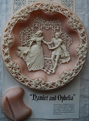 - Plate Incolay Studios Hamlet & Ophelia Second Issue in The Shakespearean Lovers Series Decorative