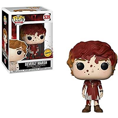 Funko Pop! Movies: Stephen King's It - Bloody Beverly Marsh Chase Variant Limited Edition Vinyl Figure (Bundled with Pop Box Protector Case): Toys & Games