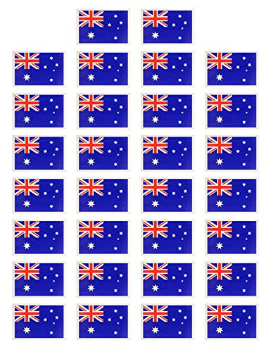 Fiomia National Flag Sticker of Australia World Cup Temporary Tattoo Face Decal Body Glitter Country Flag Waterproof Removable 30Pcs