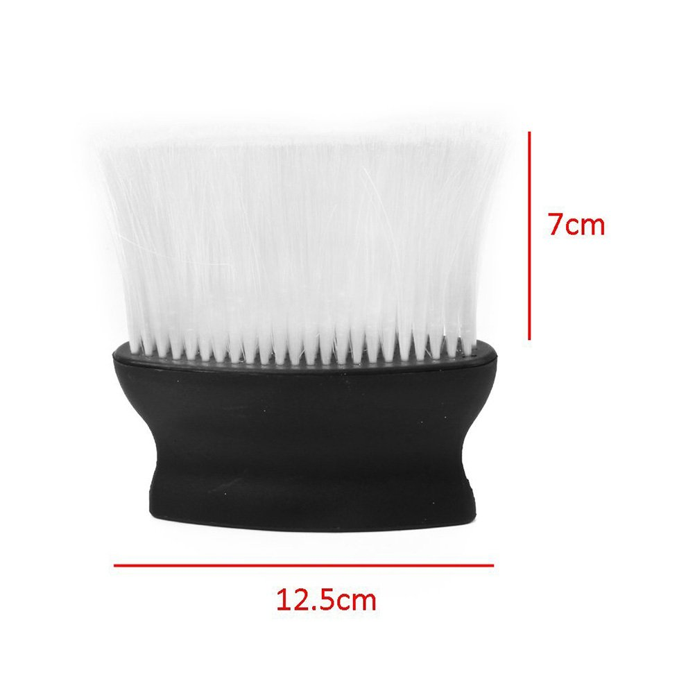ROSENICE Salon Barber Hair Cutting Neck Brush Face Duster( Black + White )