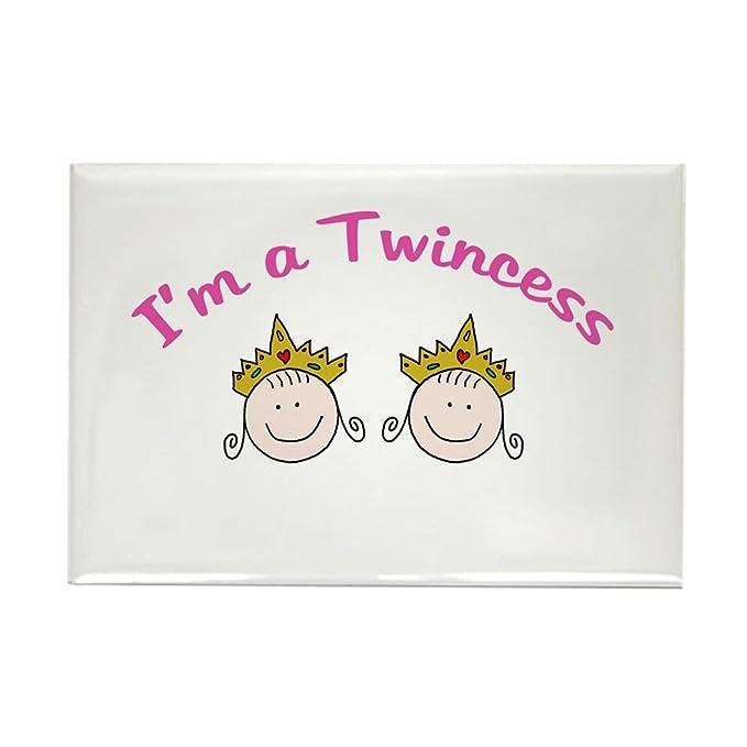CafePress – I m un twincess – rectangular imán, 2