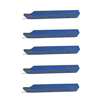 Drehmei/ßel mit Hartmetall Qualit/ät f/ür Stahl 5 St/ück 45/° Drehstahl 8 x 8 mm DIN4972