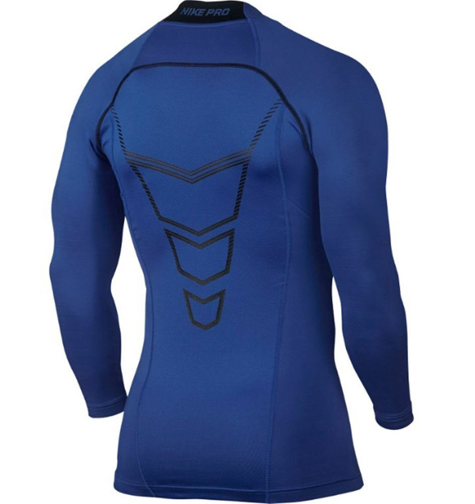 03b923af3f51 Amazon.com  Nike Pro Combat Hyperwarm Compression Dri-FIT Max Mock Long  Sleeve Shirt (Medium)  Sports   Outdoors