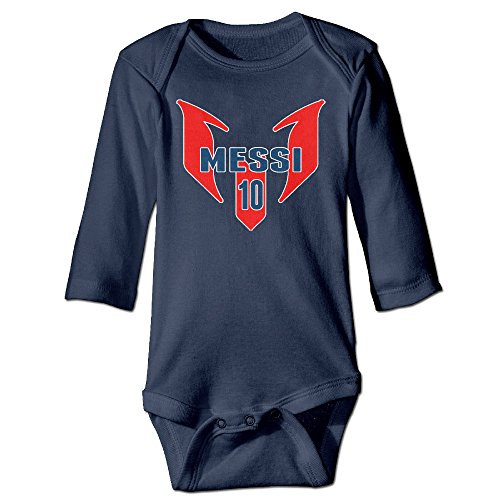 Price comparison product image Deamoon Soccer Star Leo Long Sleeve Romper Bodysuit Outfits Navy 18 Months