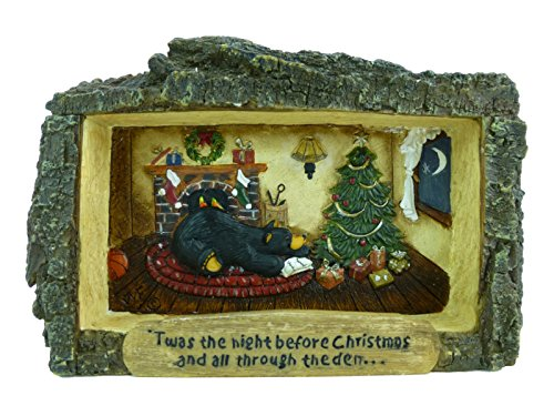 Bearfoots Cabin View Frame 'Twas The Night Before Christmas And All Thru The Den' (Bearfoots Moose)