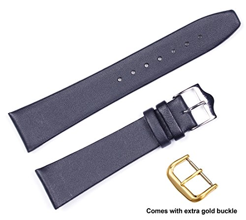 deBeer brand Calf Leather Watch Band (Si - Extra Wide Black Leather Band Shopping Results