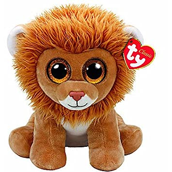 Ty - Beanie Babies Louie, león, 40 cm (United Labels Ibérica 96300TY)
