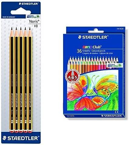 Staedtler - Pack 5 lápices Noris HB + 36 lápices de colores Noris ...