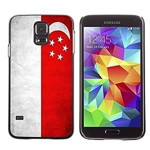 Cute Painting Slim pc Cover - Samsung Galaxy S5 ( Singapore Grunge Flag )