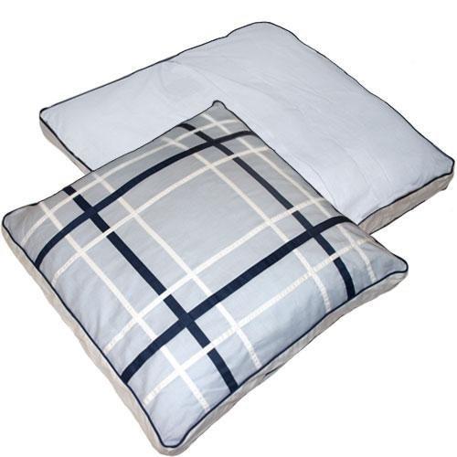 Nautica Bay Shore Square Decorator Stuffette Pillow Blue by Nautica