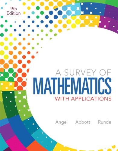 Survey Of Mathematics W/Appl. Text