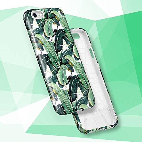 iPhone 6s Hülle, GMYLE Hybrid Case Slide für iPhone 6s - Leaf Pattern Hybrid TPU Protective Hard Shell Hülle