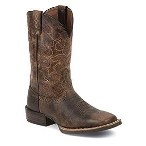 Amazon Com Justin Boots Men S Silver Sv7216 11 Inch